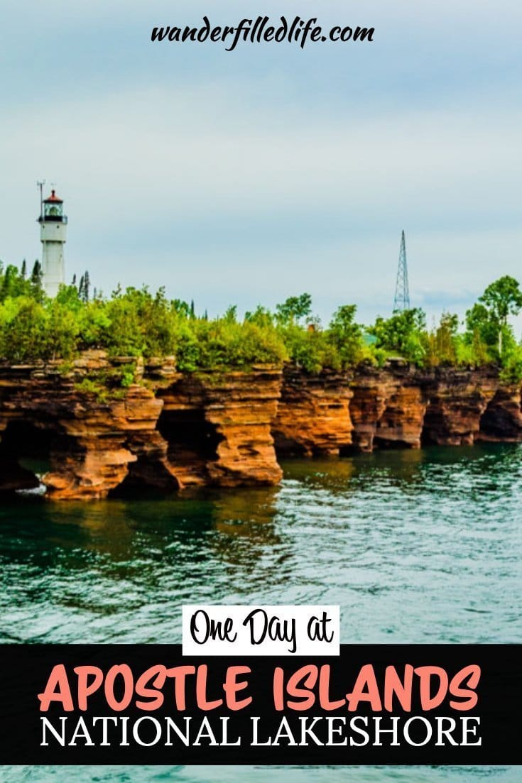 One day at Apostle Islands National Lakeshore is more than enough to hike the short mainland trail and view the islands on a cruise.