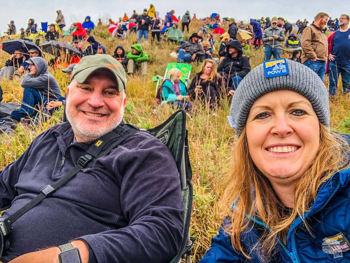 Selfie at the Buffalo Roundup.
