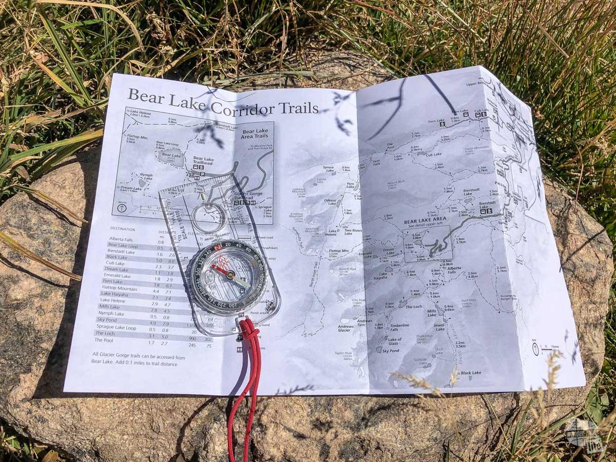 Explorer compass in my pack to use with any trail maps we get.