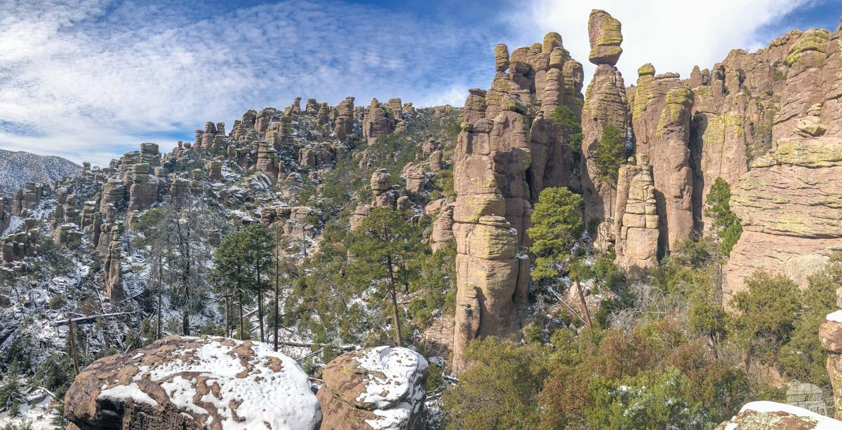 "Chiricahua National Monument is called a ""Wonderland of Rocks."""