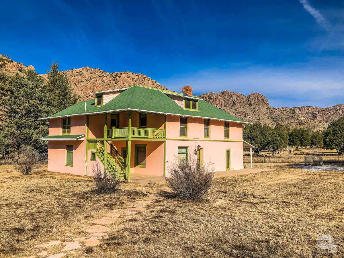 The Faraway Ranch served as a guest ranch with tours in the nearby rock formations in Chiricahua National Monument.