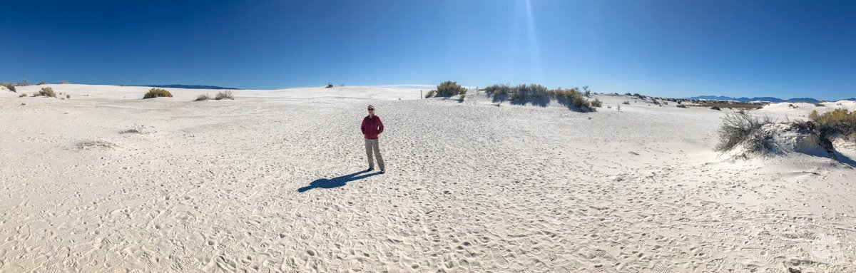 Walking in White Sands National Park will make you feel small.