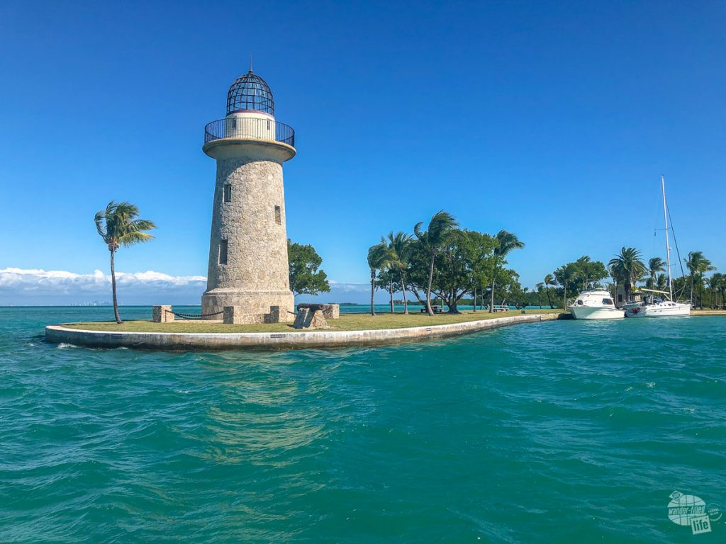 The ornamental lighthouse on Boca Chita Key.