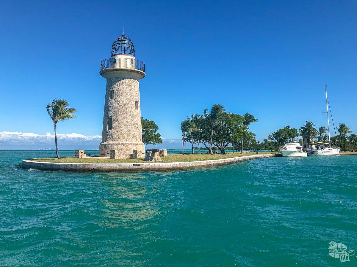 The ornamental lighthouse on Boca Chita Key.