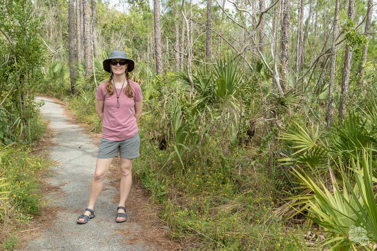 Bonnie on the Pinelands Trail