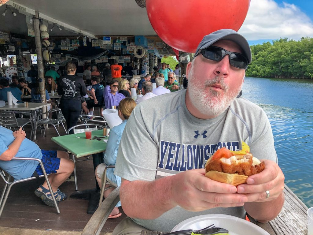 Lunch at Alabama Jack's in the Florida Keys.
