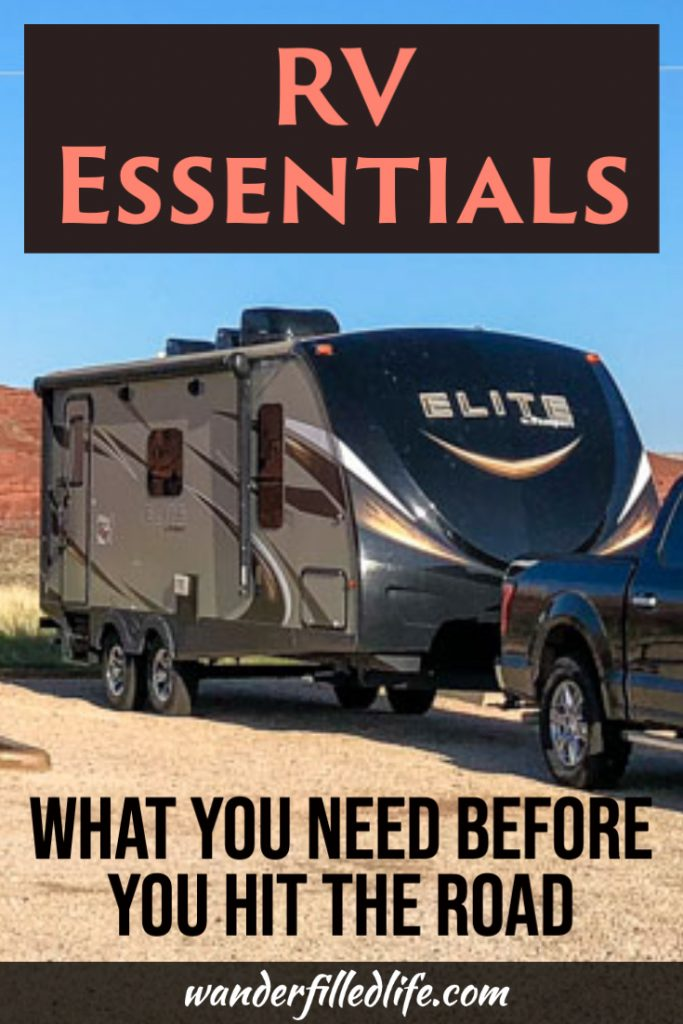 Before you hit the road in your new RV, make sure you have all the RV essentials first! Our guide includes all the RV gear you need for your first trip.
