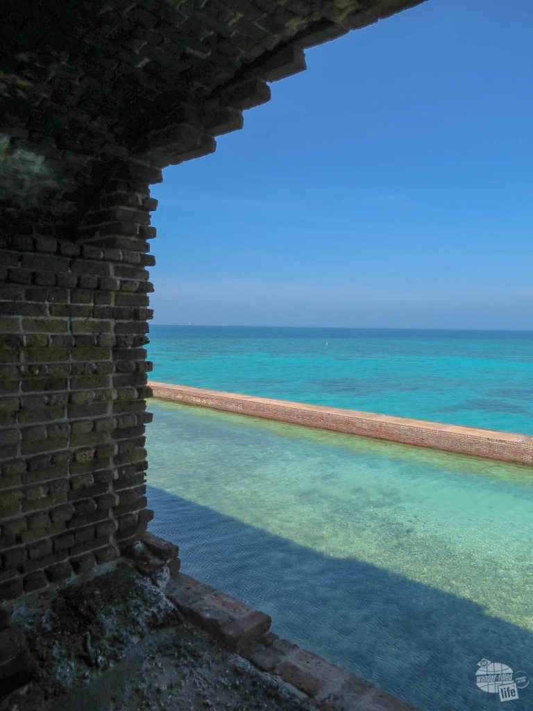 The blue waters at Dry Tortugas NP are a highlight of the South Florida national parks.