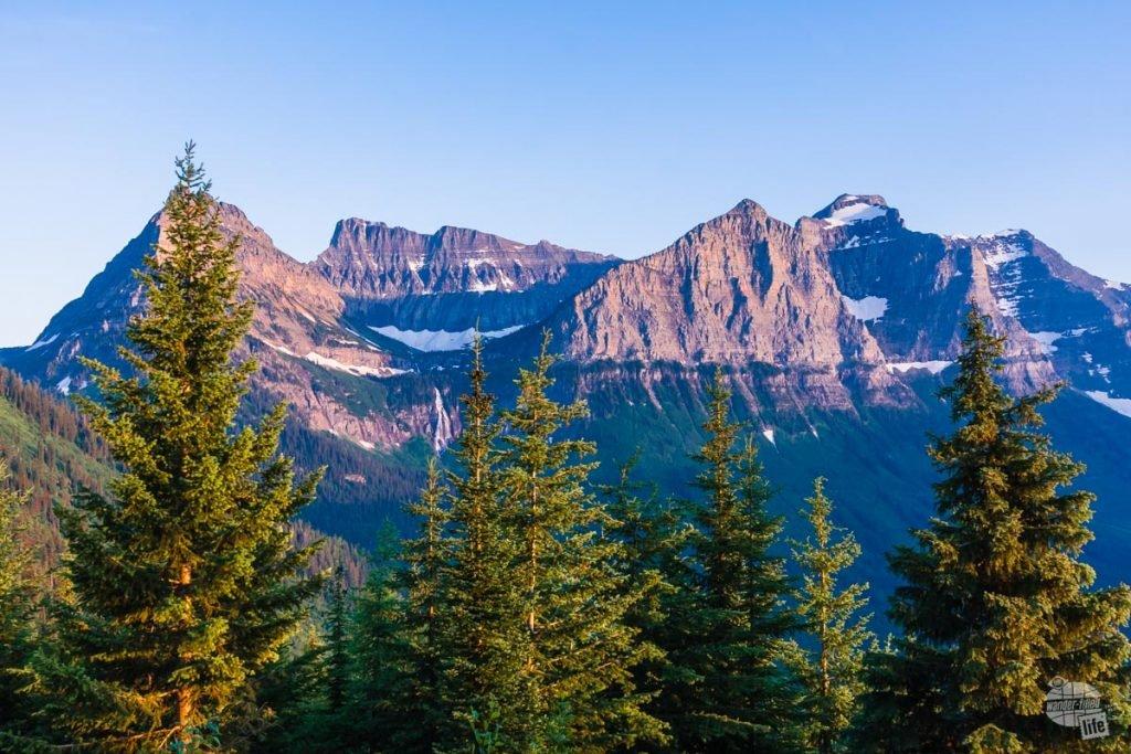 Gorgeous mountain view in Glacier National Park, Montana.