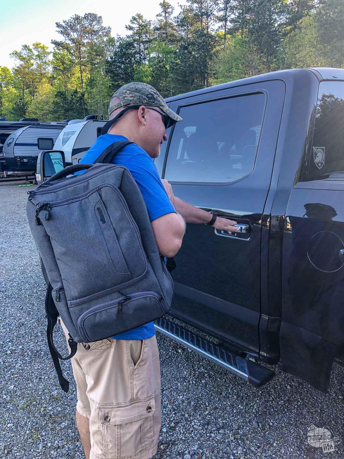 Grant loves the eBags Professional Slim Laptop Backpack.
