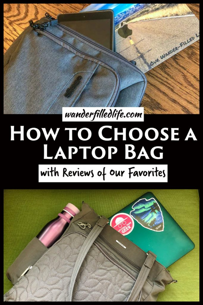 Looking for the right laptop bag for travel or at home use? Find out what we use and what to consider when choosing a laptop bag for yourself.