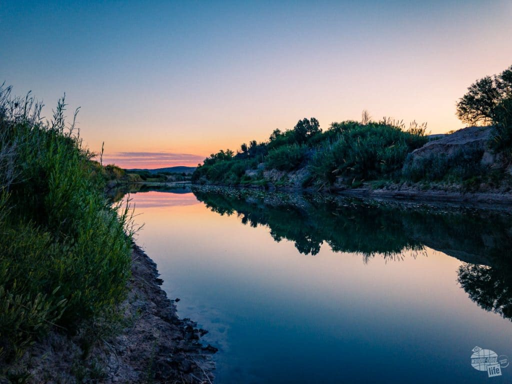 An early morning picture along the Rio Grande highlighting the HDR capabilities of an iPhone camera.