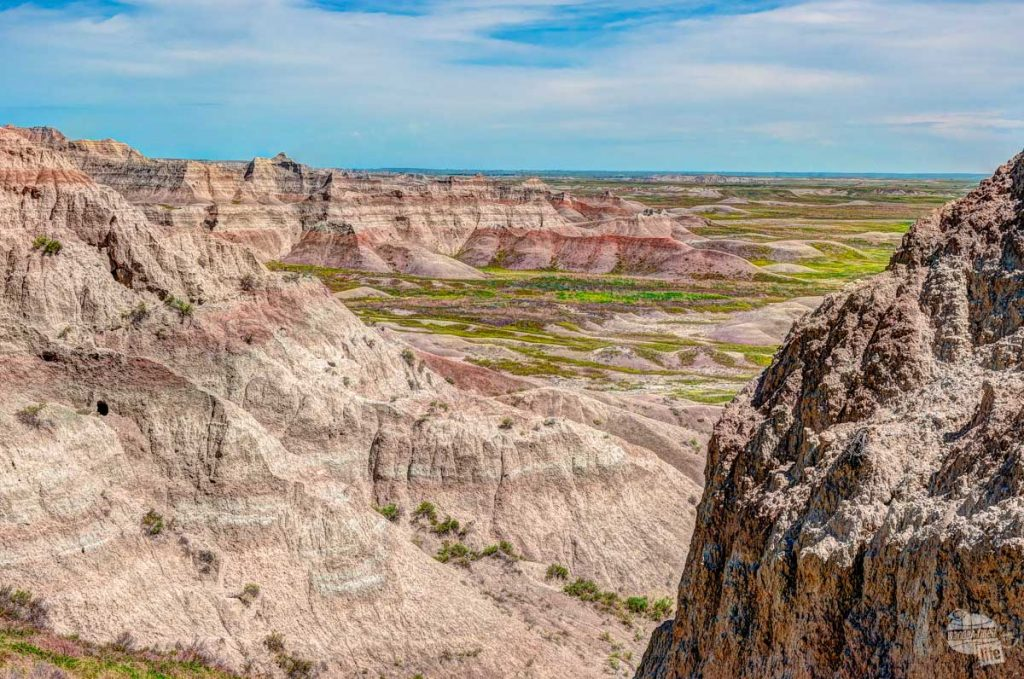 Layered colors of the Badlands.