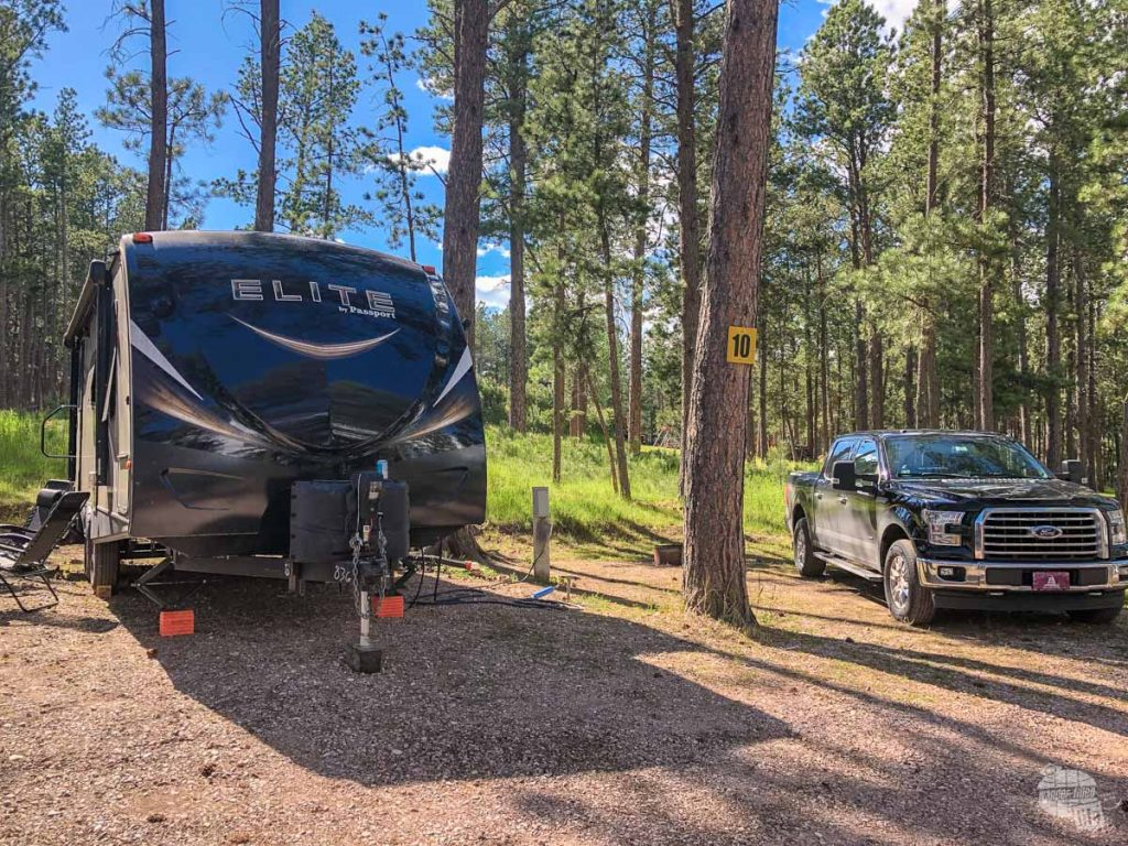Our campsite at Big Pine Campground in Custer.