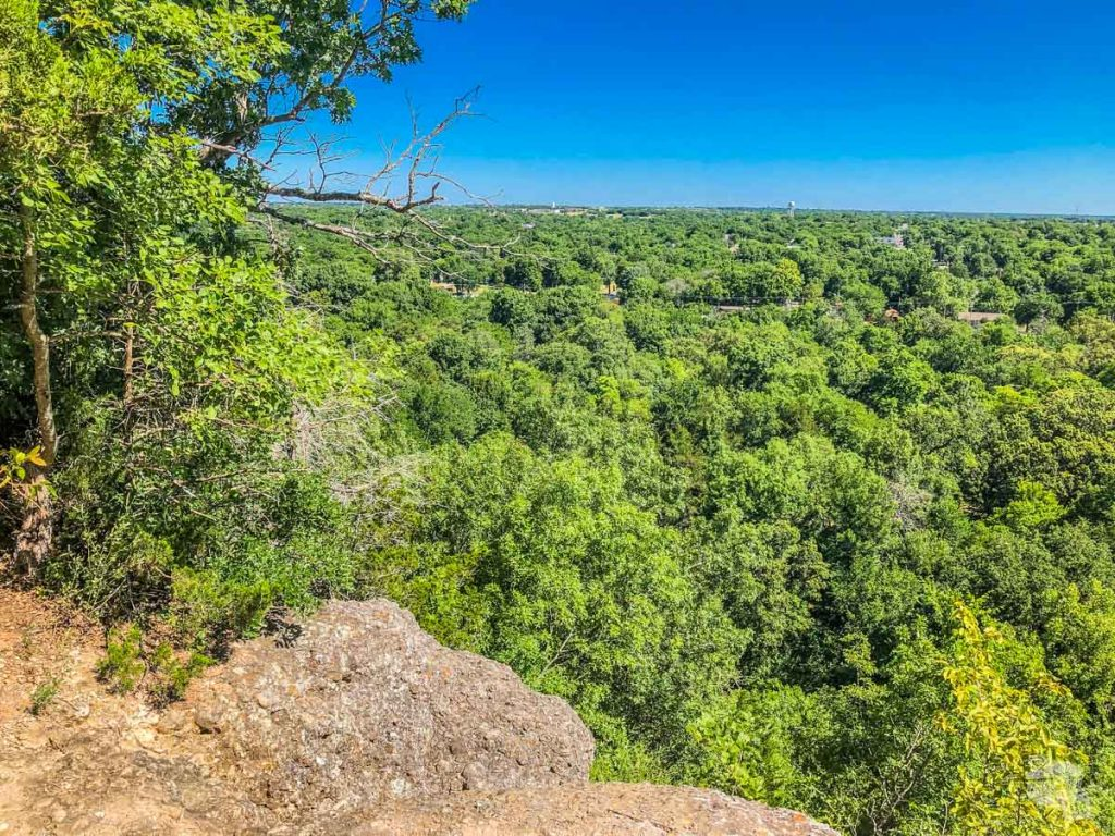 The view from Bromide Hill overlooking part of Chickasaw National Recreation Area.