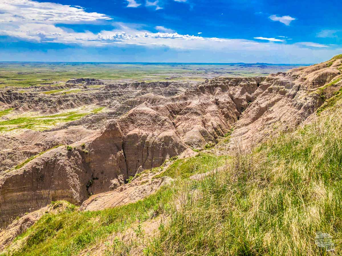 An overlook in the Buffalo Gap National Grasslands just outside Wall, SD.