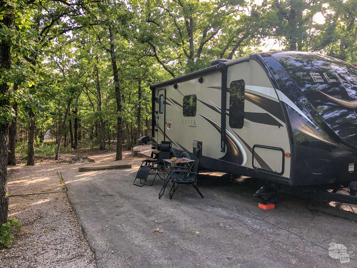 Our campground at Chickasaw National Recreation Area