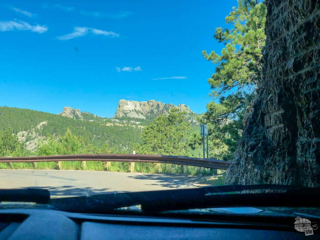 The scenery coming out of the tunnel on the Iron Mountain Road can be a bit distracting.