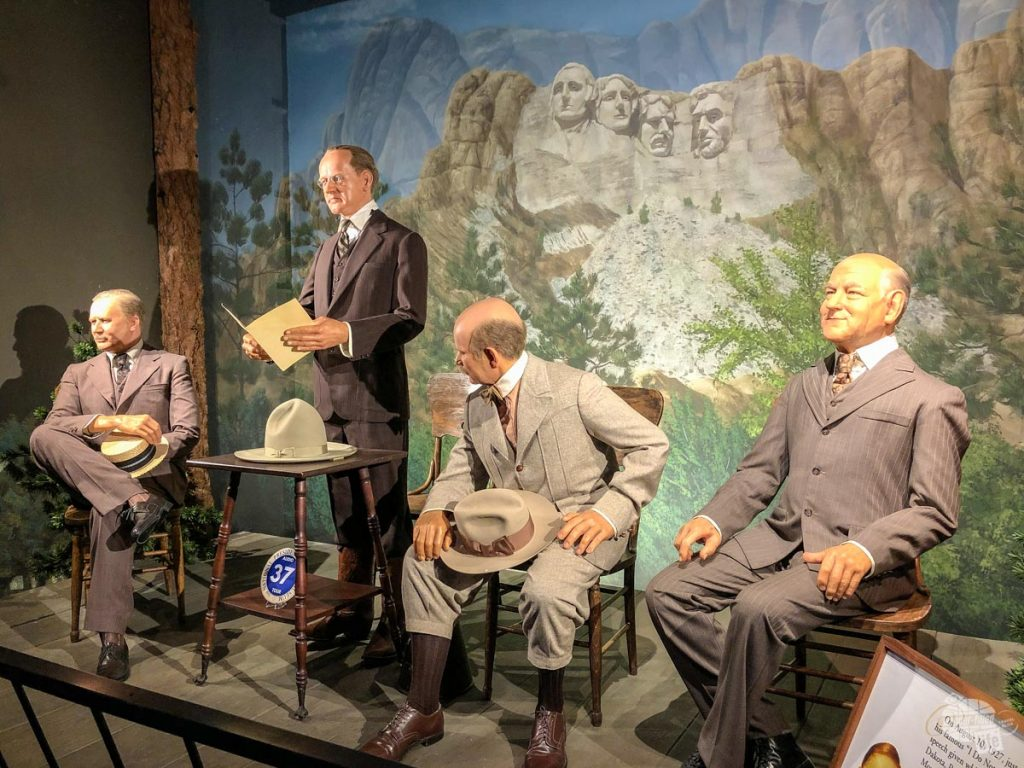 The National Presidential Wax Museum near Mount Rushmore.