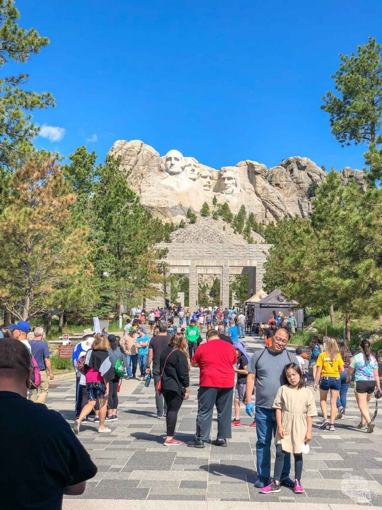 Mount Rushmore is generally very crowded in the summer.