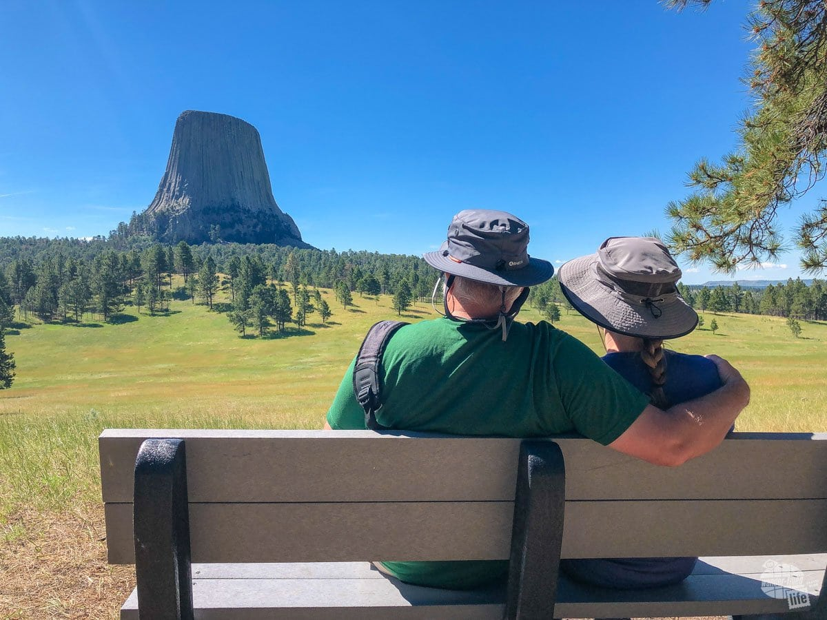 This spot is a bit of a hidden treasure. Just head up to the Joyner Ridge Trailhead. Once, there, hike the trail about 100 yards to the best view of Devils Tower.