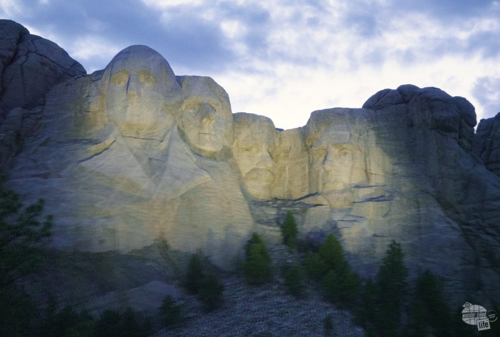 Be sure to attend the evening lighting ceremony when visiting Mount Rushmore.