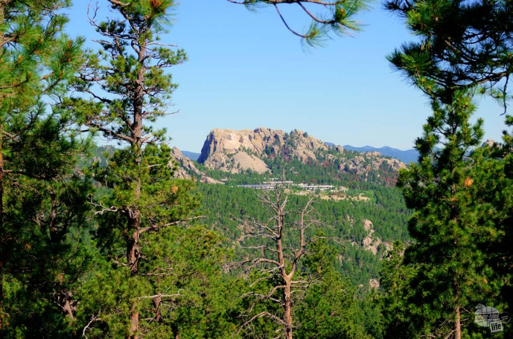 Mt. Rushmore from Iron Mountain Road.