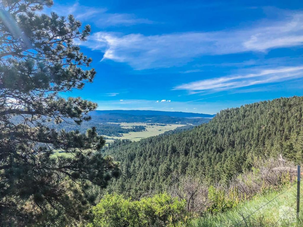 One of the scenic overlooks along Wyoming's Black Hills Scenic Byway.
