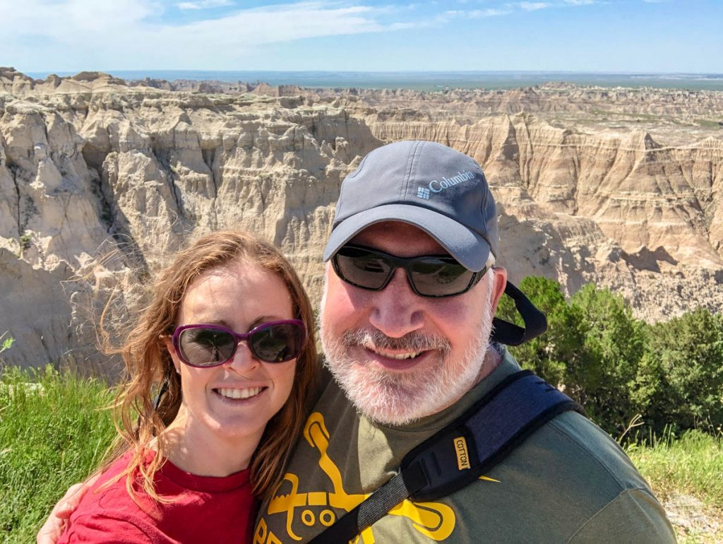 We couldn't help but take a selfie at one of the overlooks while visiting Badlands National Park.