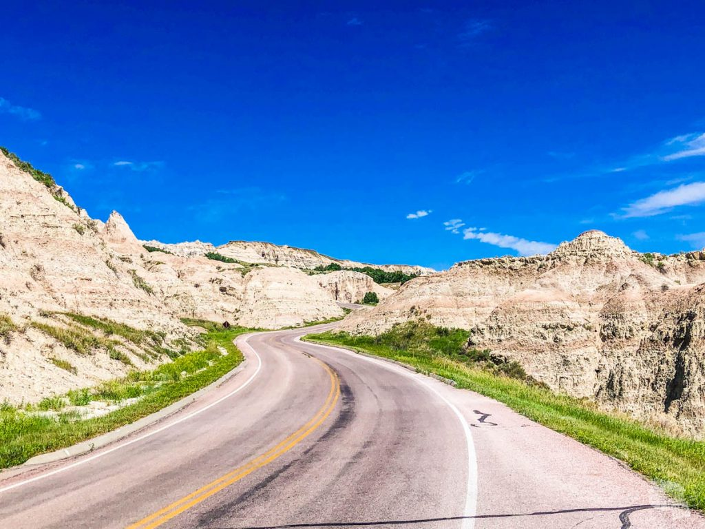 A drive through Badlands National Park is a great side trip on the way to Mount Rushmore.