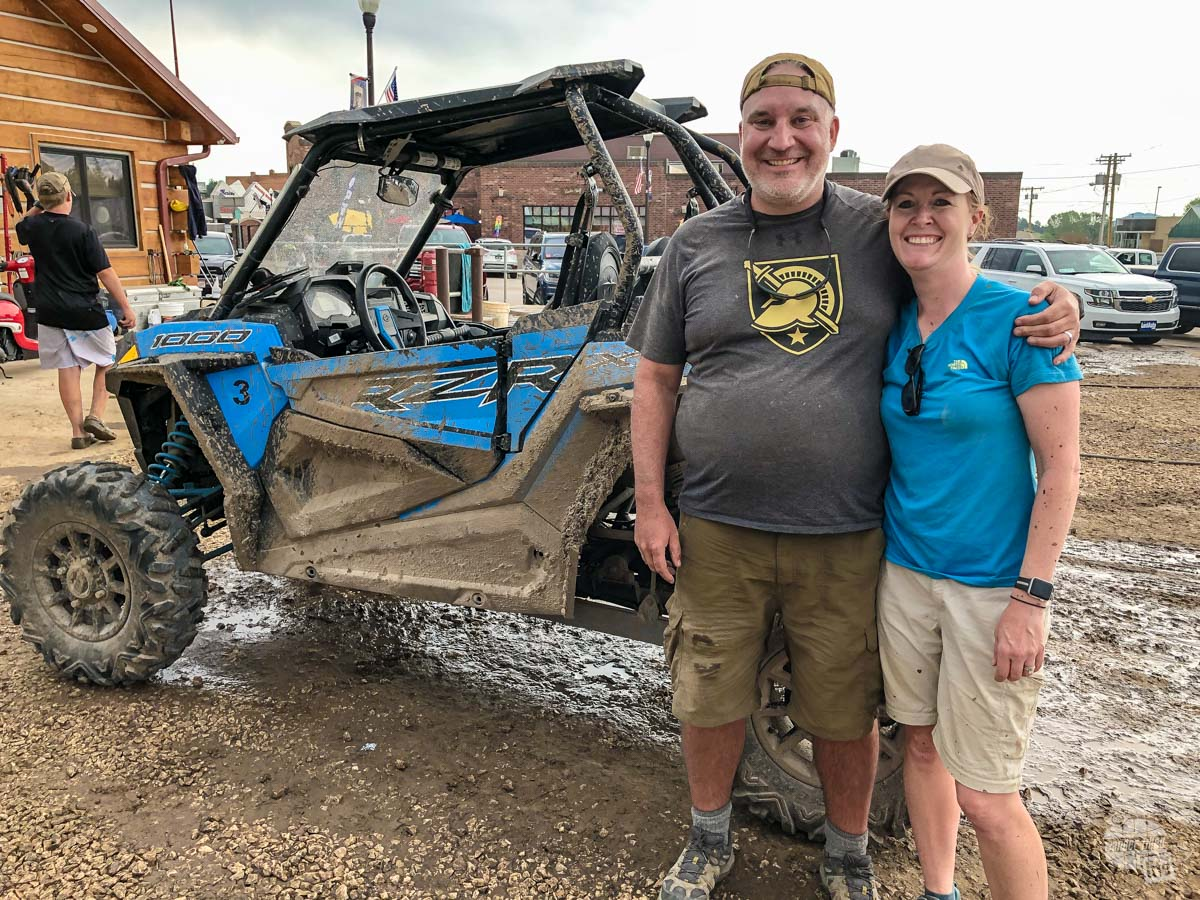 Expect to get muddy while having fun on an ATV in the Black Hills.