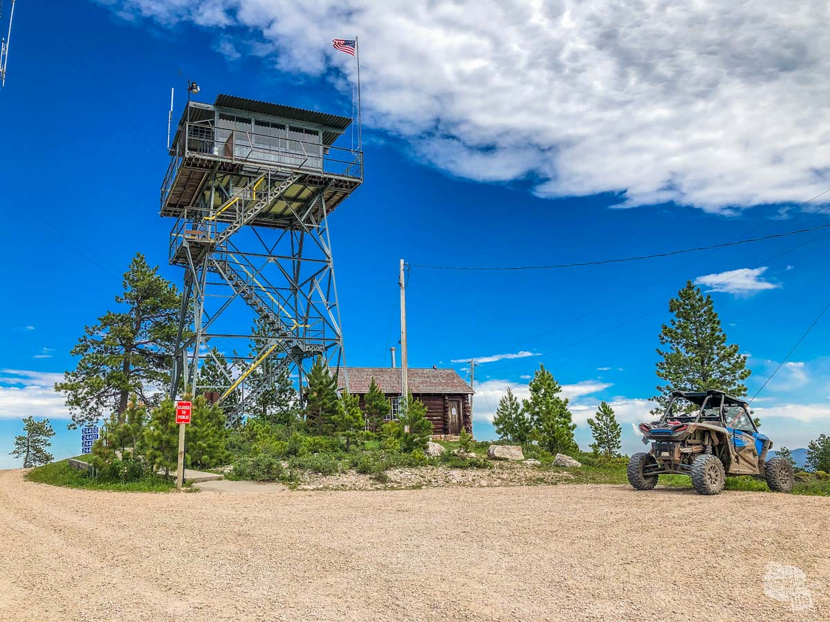 Bear Mountain Fire Lookout is just one of many sites to explore on an ATV in the Black Hills.