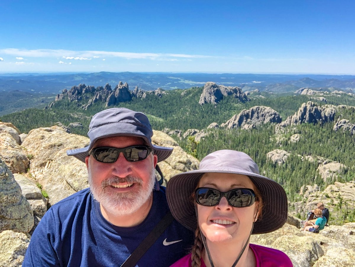 There are many trail hiking trails and scenic views in the Black Hills.
