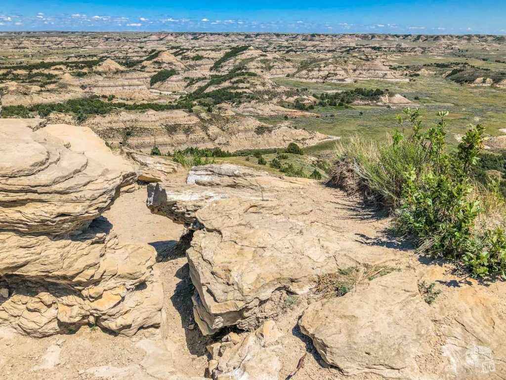 The view from Buck Hill when visiting Theodore Roosevelt National Park.