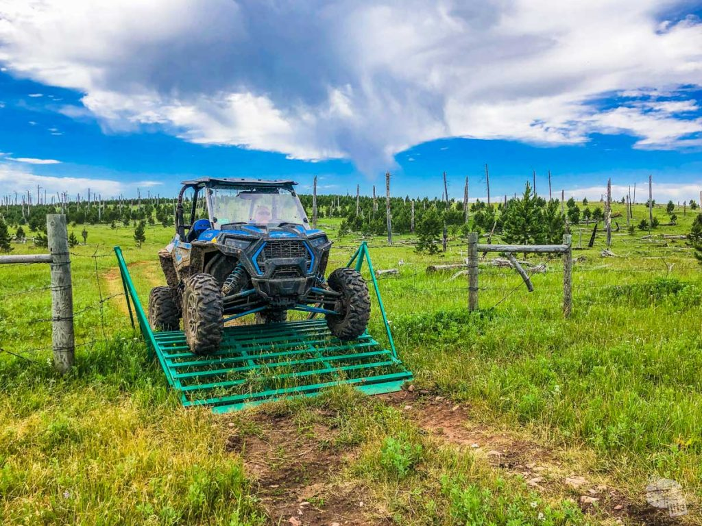 There are all kinds of fun ATV crossings in the backcountry.