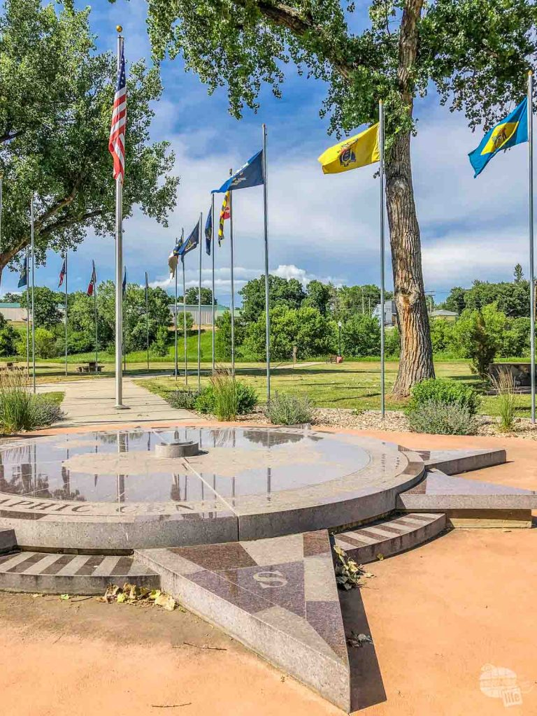 Belle Fourche, SD holds the monument of the Center of the Nation.