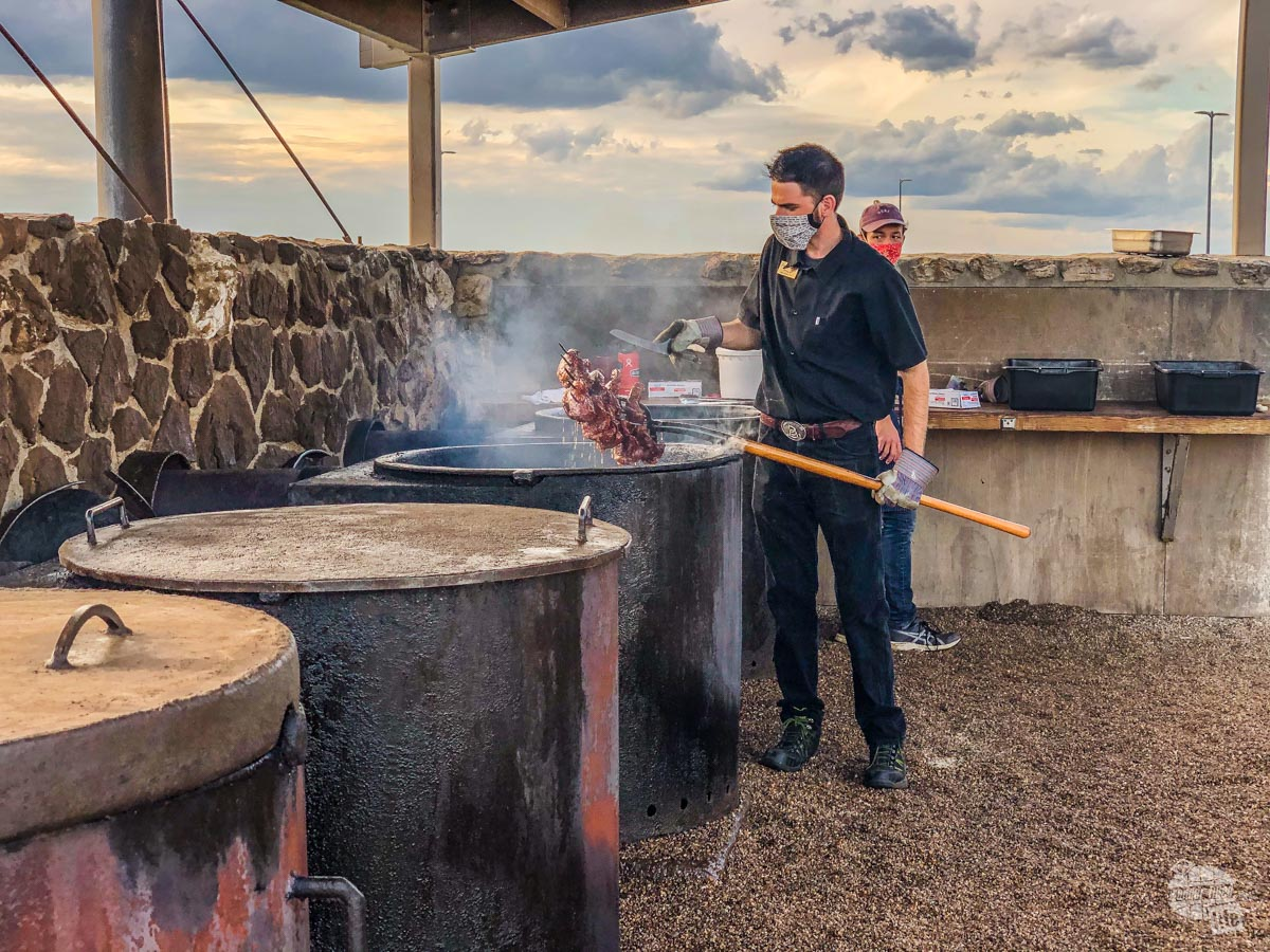 The Pitchfork Fondue is one of the most unique dinners we've ever had - a must when you're in Medora.
