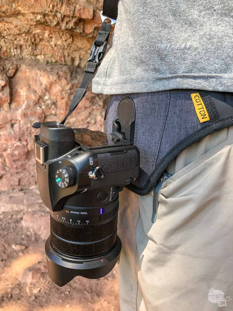 Grant's new Sony RX10 on his Cotton Carrier SlingBelt.