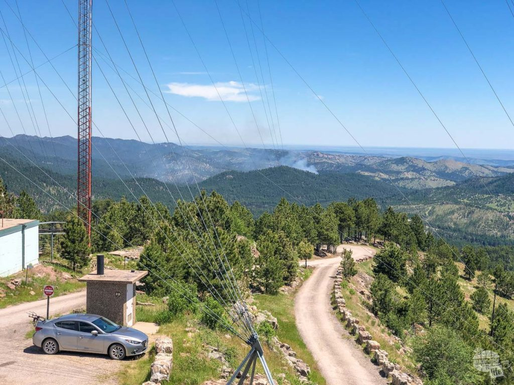 You'll get some great views of Custer SP and the Black Hills National Forest from the Mount Coolidge Fire Tower.