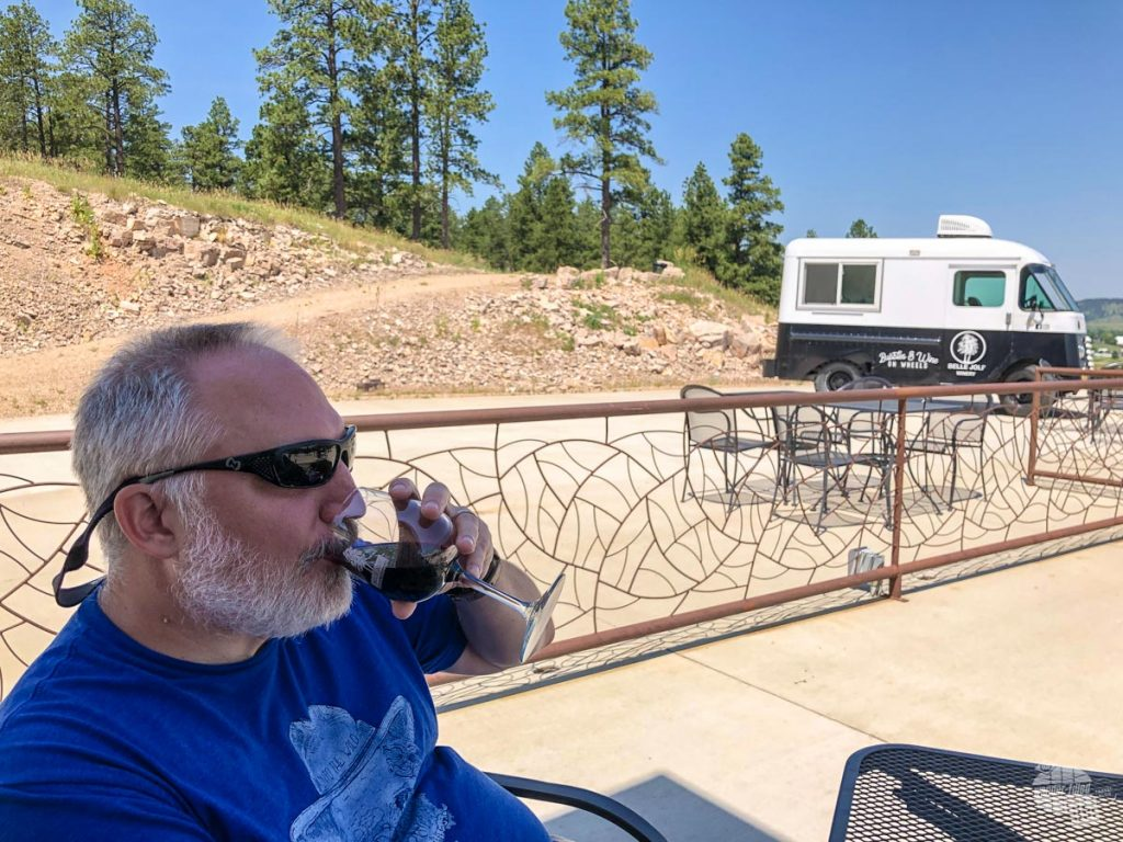 Belle Joli Sparkling House is a nice place for a glass of wine in the Black Hills.