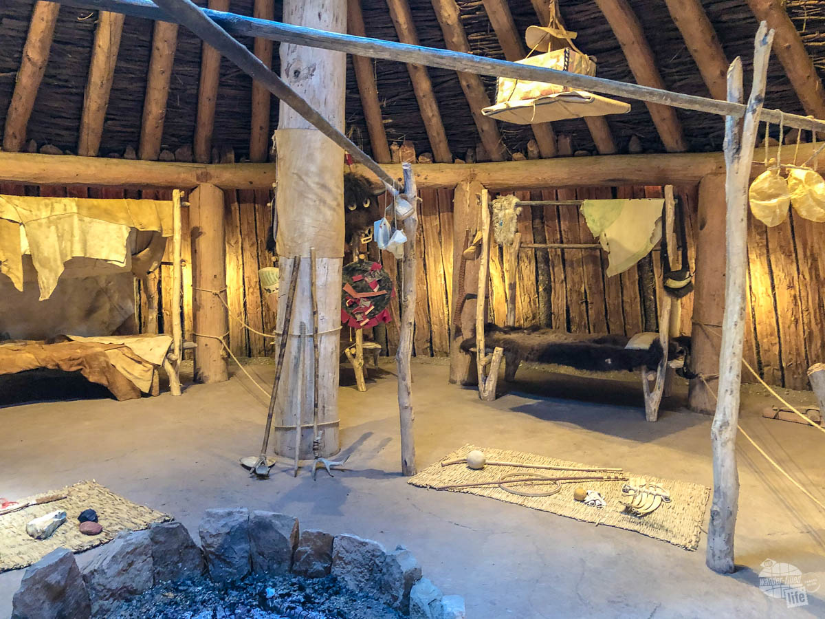 The earthlodge at Knife River Indian Villages.