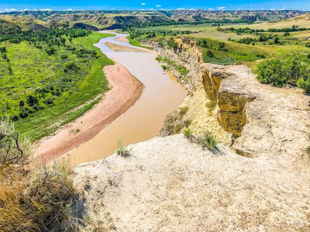 Little Missouri River at Wind Canyon.