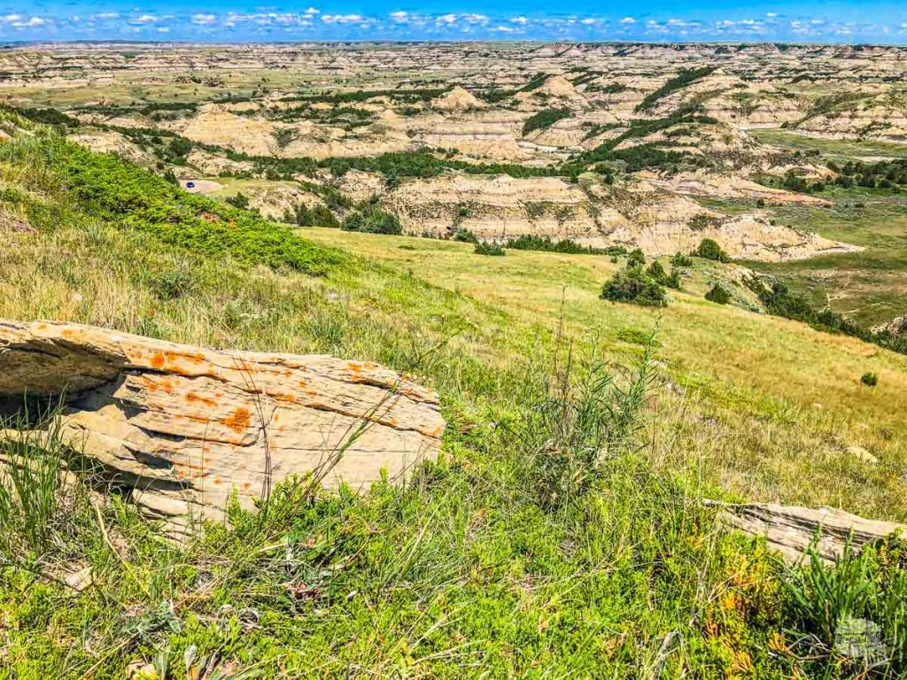 We hiked up to the top of this hill for lunch and some great views when visiting Theodore Roosevelt National Park.