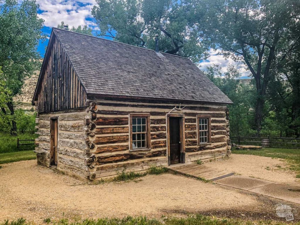 One of Teddy Roosevelt's cabins from his ranch in the North Dakota Badlands.