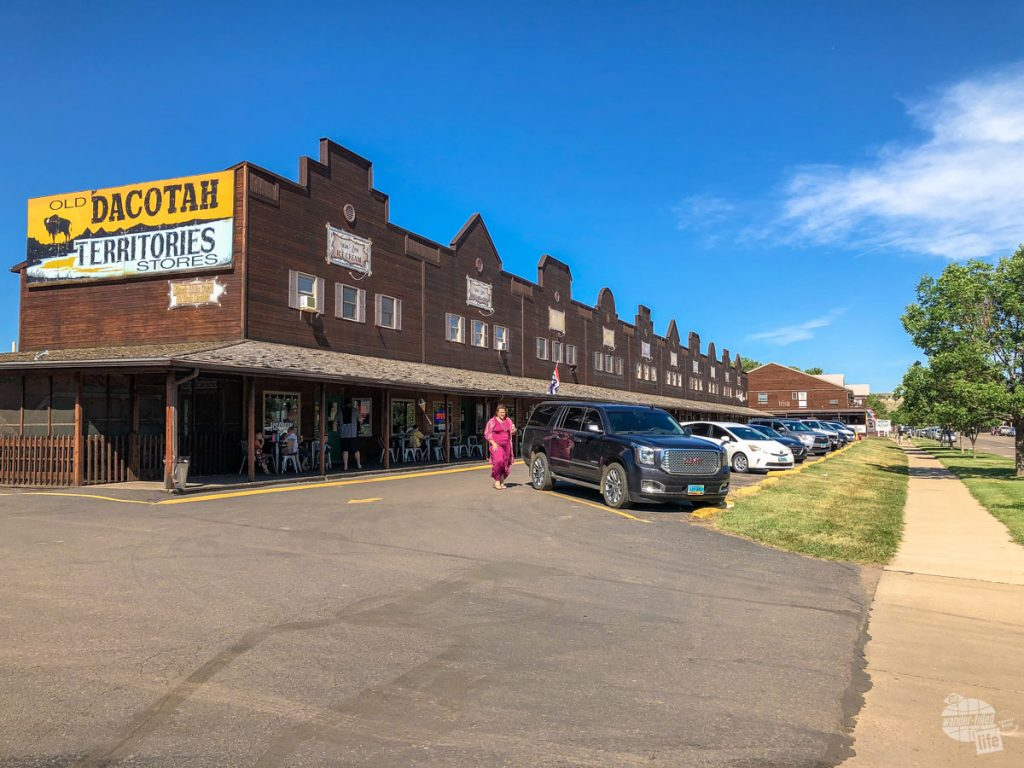 The simple downtown area of Medora, ND.