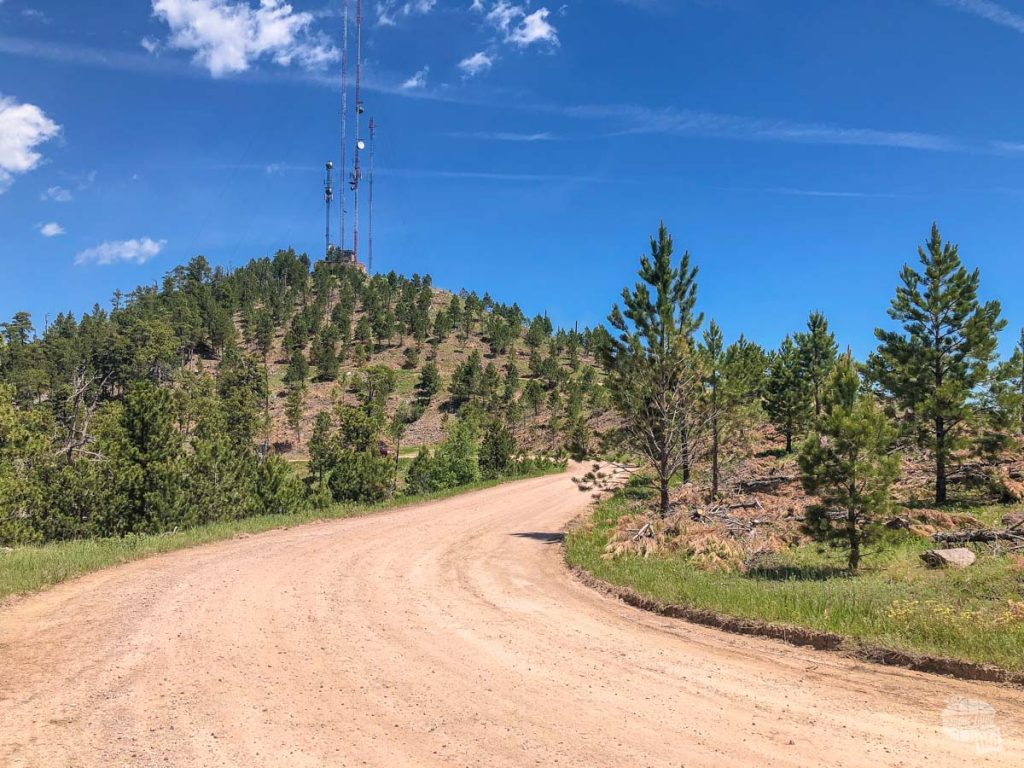 The road up to Mount Coolidge in Custer State Park