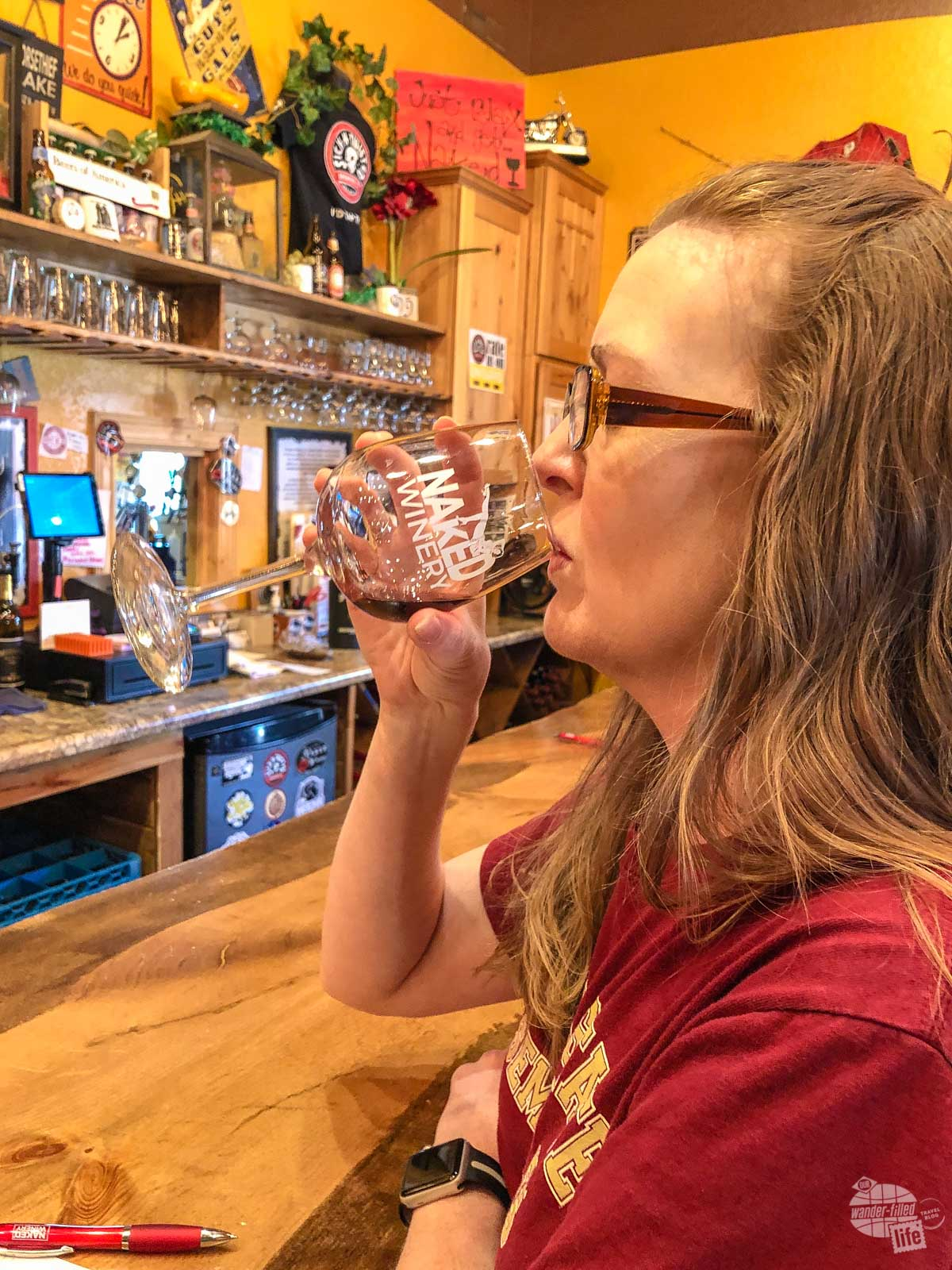 Naked Winery and Sick-N-Twisted Brewery is one of our favorite places to drink in the Black Hills.