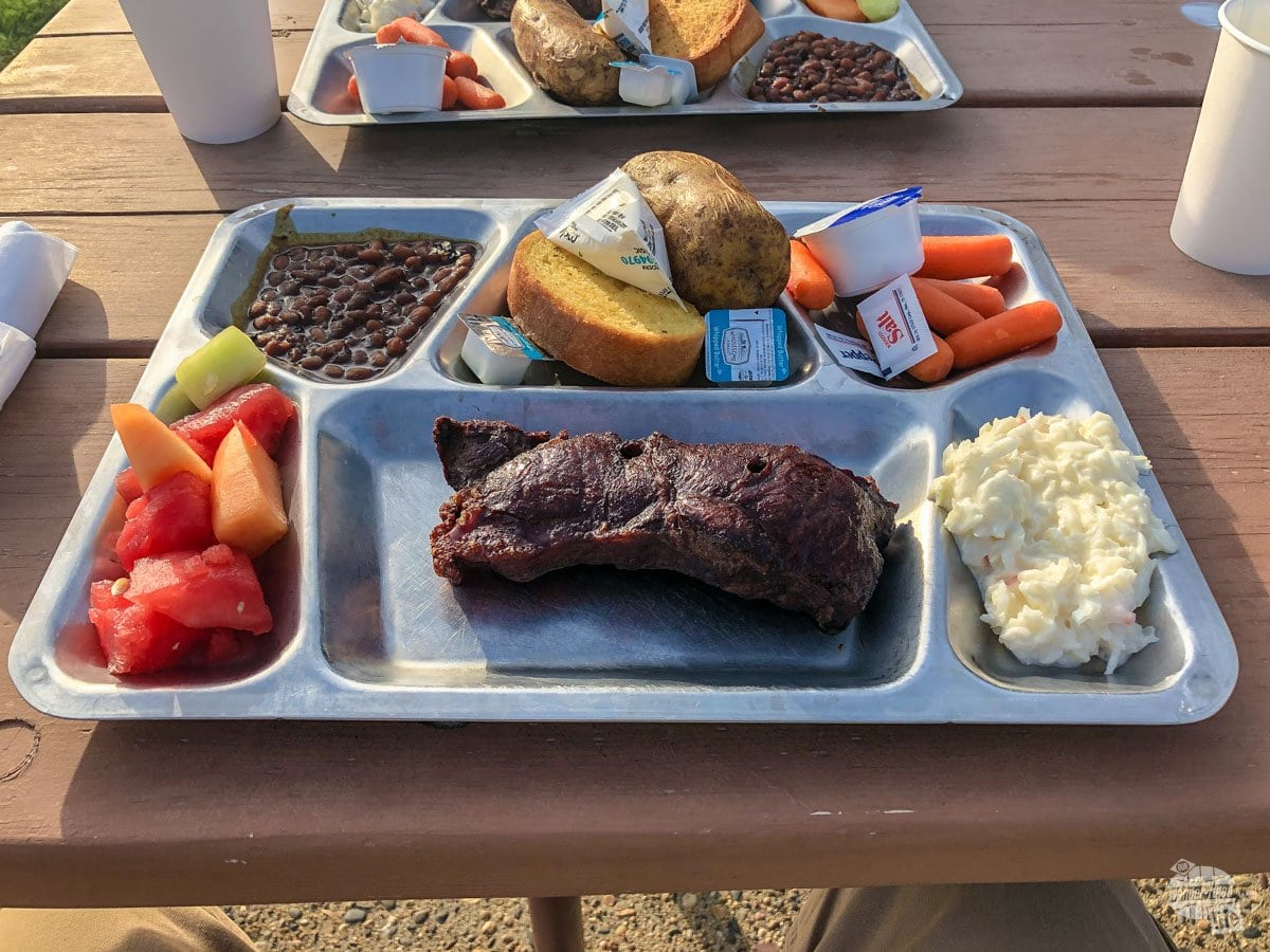 Buffet dinner at the Pitchfork Fondue is a top thing to do in Medora.