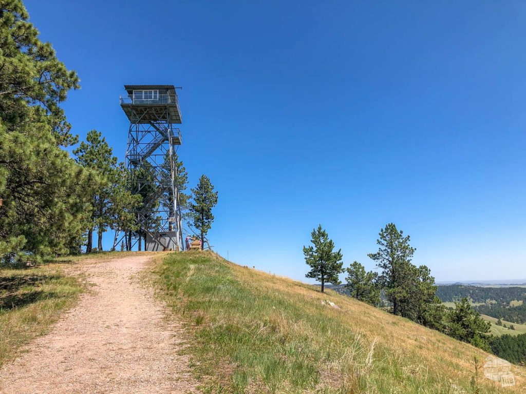 The fire tower atop Rankin Ridge in Wind Cave National Park.