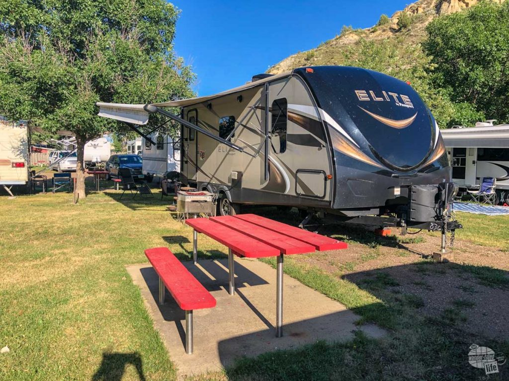 The Red Trail Campground is one of two places to camp in Medora.